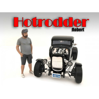 """Hotrodders"" Robert Figure For 1:24 Scale Models American Diorama 24029"