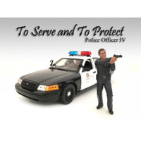 Police Officer IV Figure For 1:24 Scale Models American Diorama 24034