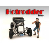 """Hotrodders"" Derek Figure For 1:18 Scale Models American Diorama 24007"
