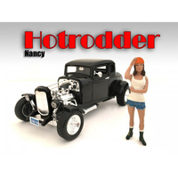 """Hotrodders"" Nancy Figure For 1:18 Scale Models American Diorama 24008"