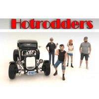 """Hotrodders"" 4 Piece Figure Set For 1:18 Scale Models American Diorama 24007,24008,24009,24010"