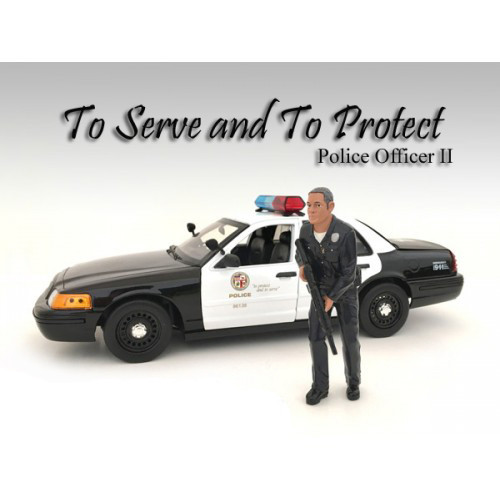 Police Officer II Figure For 1:18 Scale Models American Diorama 24012