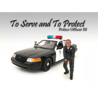 Police Officer III Figure For 1:18 Scale Models American Diorama 24013