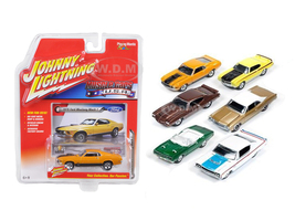 Muscle Cars USA Release 1A Set of 6 Cars 1/64 Diecast Model Cars Johnny Lightning JLMC001-A