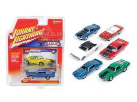 Muscle Cars USA Release 1B Set of 6 Cars 1/64 Diecast Model Cars Johnny Lightning JLMC001-B