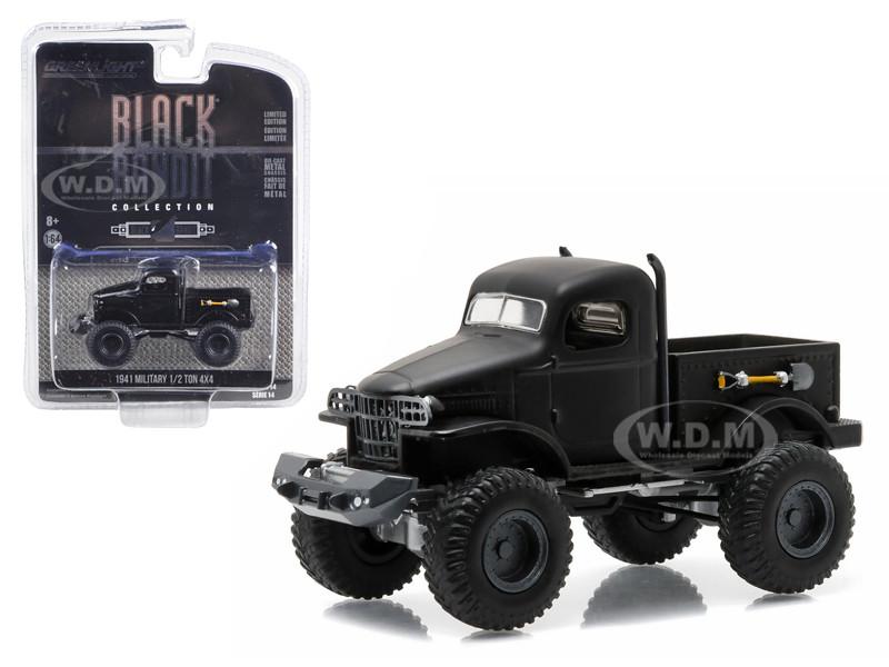 1941 Military 1/2 Ton 4x4 Pick Up Truck Black Bandit 1/64 Diecast Model Greenlight 27840 A