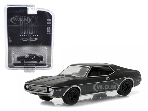 1973 AMC Javelin Black Bandit 1/64 Diecast Model Car Greenlight 27840 B