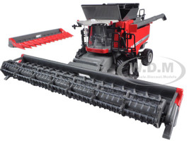 Massey Ferguson 9545 Combine with Fat Singles, Grain Head and Corn Head 1/64 Diecast Model Speccast SCT540
