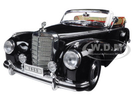 1955 Mercedes 300S Convertible Black 1/18 Diecast Model Car Welly 19859
