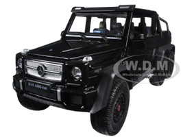 Mercedes G 63 AMG 6X6 Black 1/24 Diecast Model Car Welly 24061