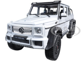 Mercedes G 63 AMG 6X6 White 1/24 Diecast Model Car Welly 24061
