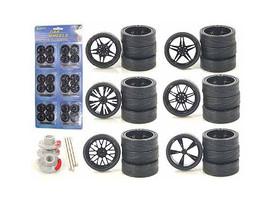 Custom Wheels for 1/24 Scale Cars and Trucks 24pc Wheels & Tires Set 2003B