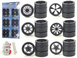 Custom Wheels for 1/18 Scale Cars and Trucks 24pc Wheels & Tires Set 2004B