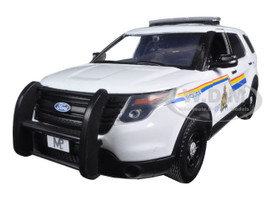 2015 Ford Police Interceptor Utility RCMP Royal Canadian Mounted Police Car with Light Bar 1/24 Diecast Model Car Motormax 76961