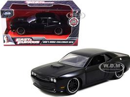 Dom's Dodge Challenger SRT8 Black Fast & Furious Movie 1/32 Diecast Model Car Jada 97384