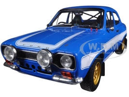 """Brian's 1974 Ford Escort RS2000 Mk1 Blue with White Stripes """"Fast & Furious 6"""" Movie (2013) 1/18 Diecast Model Car Greenlight 19022"""