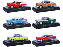 Auto Thentics 6 Cars Set Release 35 IN DISPLAY CASES 1/64 Diecast Model Cars M2 Machines 32500-35