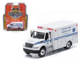 2013 International Durastar Ambulance Central Park Medical Unit, Manhattan New York City Truck HD Trucks Series 4 1/64 Diecast Model Greenlight 33040 A