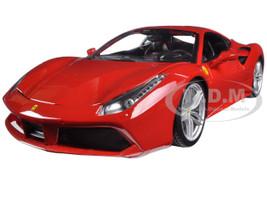 Ferrari 488 GTB Red 1/18 Diecast Model Car Bburago 16008