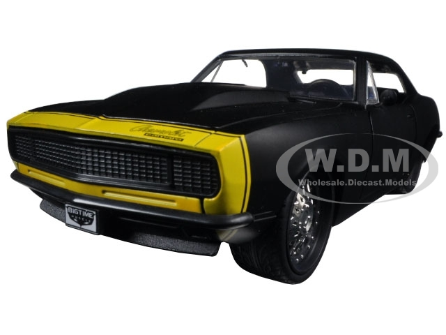 Camaro 1967 yellow 1 Chevrolet Black Diecast Jada 24 Model Car By Matt
