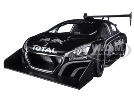 Peugeot 208 T16 Pikes Peak Red Bull Presentation Car Black 1/18 Model Car Autoart 81353