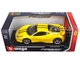 Ferrari 458 Speciale Yellow 1/18 Diecast Model Car Bburago 16002