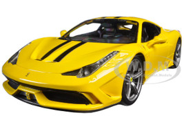 Ferrari 458 Speciale Yellow 1/18 Diecast Model Car Bburago 16002