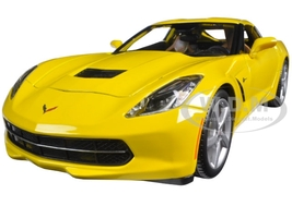 2014 Chevrolet Corvette C7 Stingray Yellow 1/18 Diecast Model Car Maisto 31182