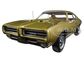 "1969 Pontiac GTO Hardtop Antique Gold ""Hemmings Muscle Magazine"" Limited Edition to 1002pc 1/18 Diecast Model Car Autoworld AMM1081"