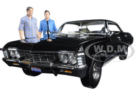 1967 Chevrolet Impala Sport Sedan Sam and Dean Figures Supernatural TV Series 2005 1/18 Diecast Model Car Greenlight 19021