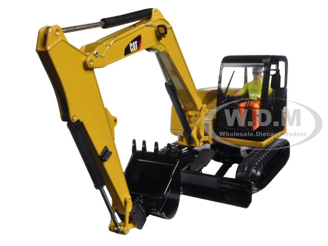 CAT Caterpillar 308E2 CR SB Mini Hydraulic Excavator with Working Tools and Operator High Line Series 1/32 Diecast Model Diecast Masters 85239
