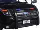 2015 Ford PI Utility Interceptor Black & White  Police Car with Light Bar 1/18 Diecast Car Model Motormax 73542