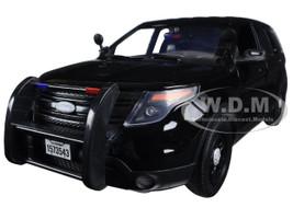2015 Ford PI Utility Interceptor Special Service Black Police Car 1/18 Diecast Model Car Motormax 73543