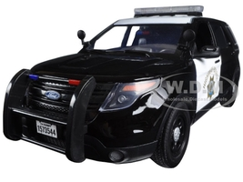 2015 Ford PI Utility Interceptor CHP California Highway Patrol 1/18 Diecast Model Car Motormax 73544