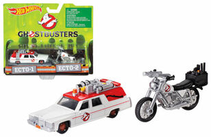Ghostbusters 3 Movie Cadillac 1/64 & Bike 1/50 Scale Diecast Model Hotwheels DRW73