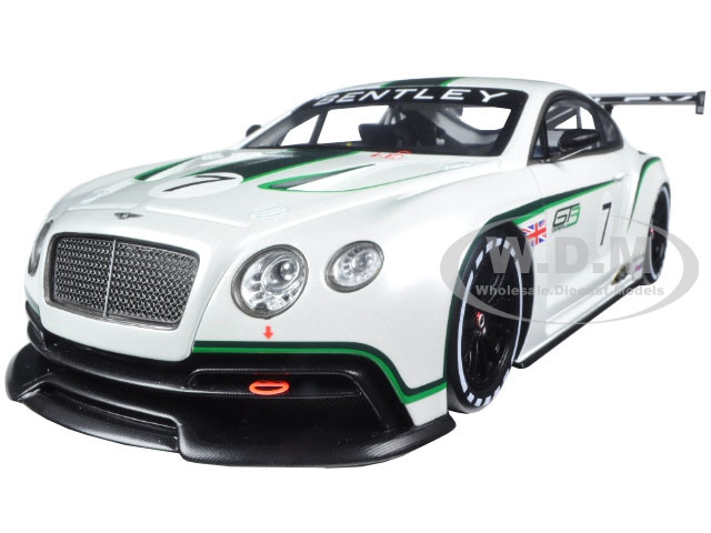 2012 Bentley Continental GT3 #7 Mondial de l'Automobile Limited to 500pc Worldwide 1/18 Model Car True Scale Miniatures 131804