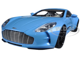 Aston Martin One 77 Tiffany Blue 1/18 Diecast Model Car Autoart 70240