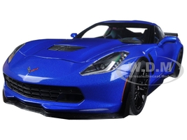 Chevrolet Corvette Stingray C7 Z06 Laguna Blue Tintcoat 1/18 Model Car Autoart 71265
