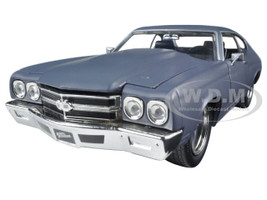 "Dom's Chevrolet Chevelle SS Matt Gray ""Fast & Furious"" Movie 1/24 Diecast Model Car Jada 97835"