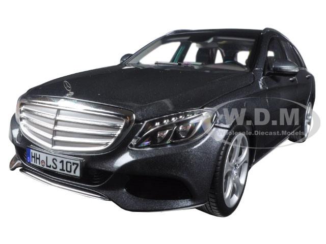2014 Mercedes C Class T-Wagon Grey Metallic 1/18 Diecast Model Car Norev 183475