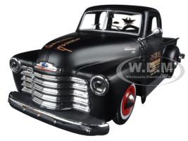 """1950 Chevrolet 3100 Pickup Truck Matt Black """"Outlaws"""" 1/25 Diecast Model Car Maisto 32506"""