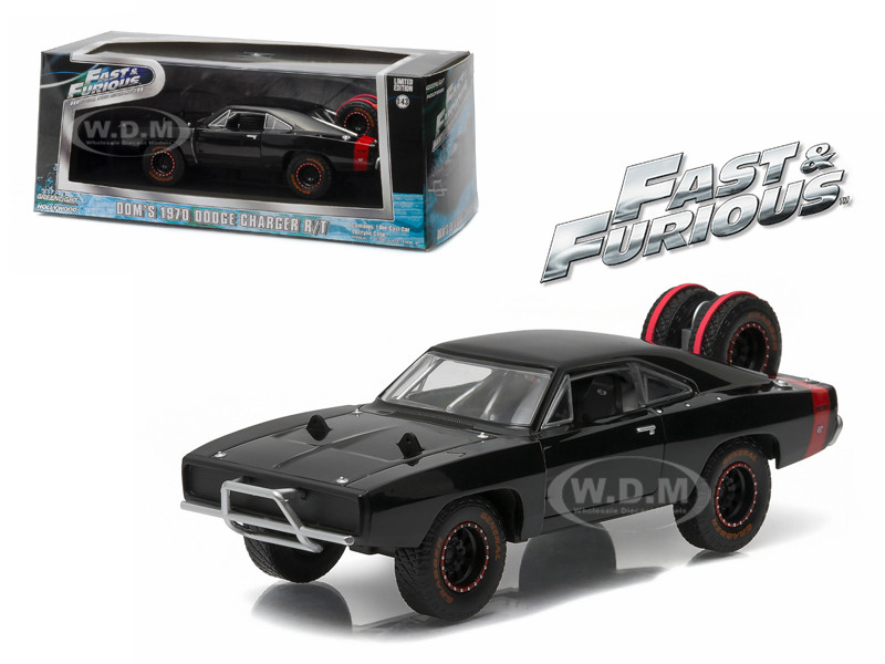 """Dom's 1970 Dodge Charger R/T Off Road """"Fast and Furious-Fast 7"""" Movie (2011) Diecast Model Car 1/43 Greenlight 86232"""