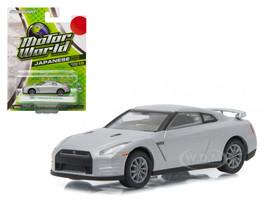 2011 Nissan GT-R R35 Silver 1/64 Diecast Model Car Greenlight 96160 E
