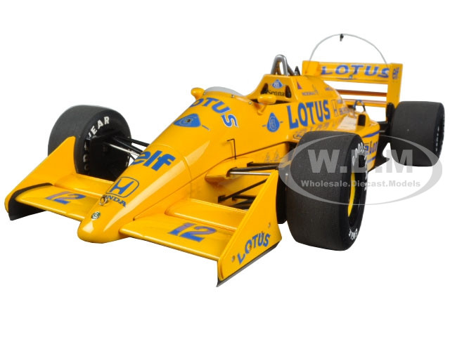 Lotus 99T Honda F1 Japanese GP 1987 A. Senna #12 1/18 Model Car Autoart 88727