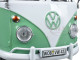 Volkswagen Type 2 (T1) Double Cab Pickup Truck White and Green 1/24 Diecast Model Car Motormax 79343