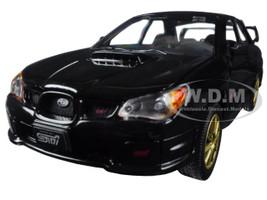 Subaru Impreza WRX STi Black 1/24 Diecast Model Car Motormax 73330