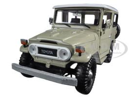 Toyota FJ40 Beige 1/24 Diecast Model Car Motormax 79323