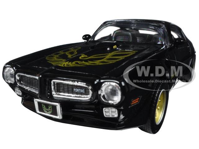 1973 Pontiac Firebird Trans Am Black With Gold Wheels 1 24 Diecast Model Car By Motormax