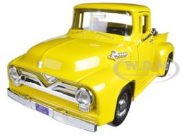 1955 Ford F-100 Pickup Truck Yellow 1/24 Diecast Model Car Motormax 79341