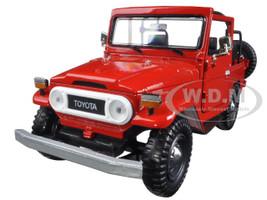 Toyota FJ40 Convertible Red 1/24 Diecast Model Car Motormax 79330